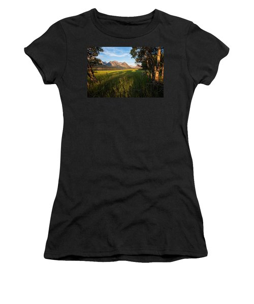 Women's T-Shirt (Junior Cut) featuring the photograph Morning In The Mountains by Jack Bell