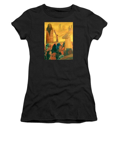 Moses And The Masks Women's T-Shirt (Athletic Fit)