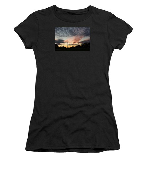 Mother Nature Painted The Sky Over Washington D C Spectacular Women's T-Shirt (Athletic Fit)