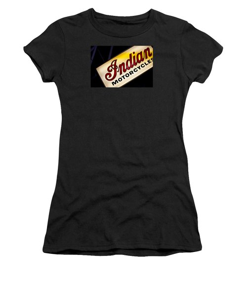Motorcycle Sign Women's T-Shirt (Junior Cut) by Art Block Collections