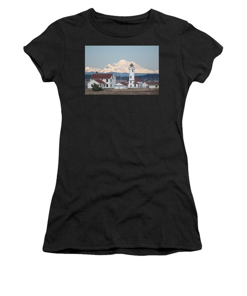 Mount Baker And Point Wilson Light Station Women's T-Shirt (Athletic Fit)