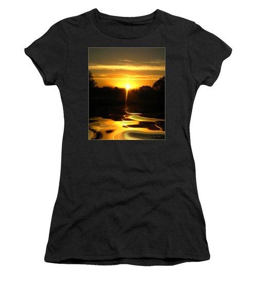 Mount Lassen Sunrise Gold Women's T-Shirt (Athletic Fit)