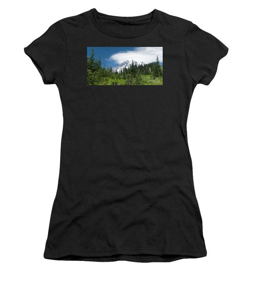 Mount Rainier Forest Women's T-Shirt (Athletic Fit)