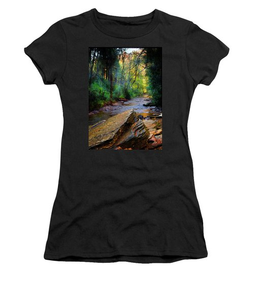 Mountain Stream N.c. Women's T-Shirt (Athletic Fit)