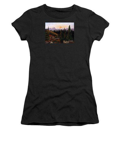 Mountain View Women's T-Shirt (Junior Cut) by Barbara Griffin