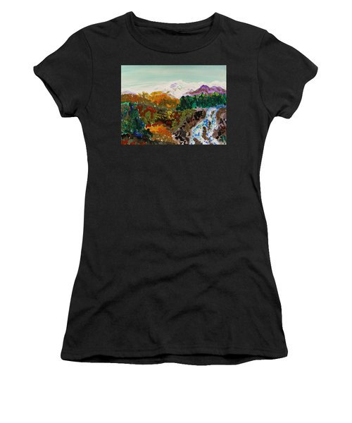 Mountain Water Women's T-Shirt (Athletic Fit)