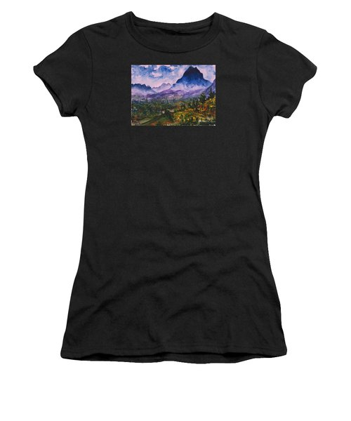 Mountains Of Pyrenees  Women's T-Shirt (Athletic Fit)