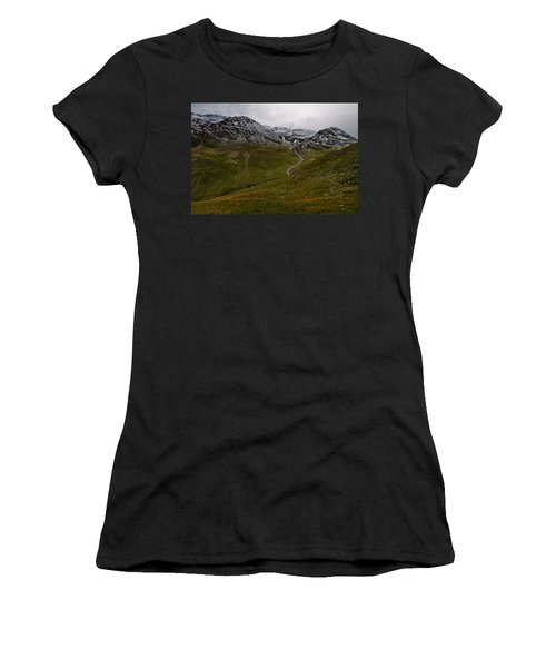 Mountainscape With Snow Women's T-Shirt (Athletic Fit)