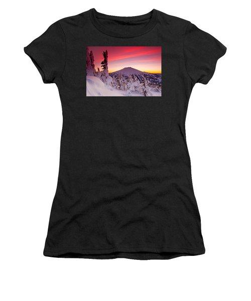 Mt. Bachelor Winter Twilight Women's T-Shirt (Athletic Fit)