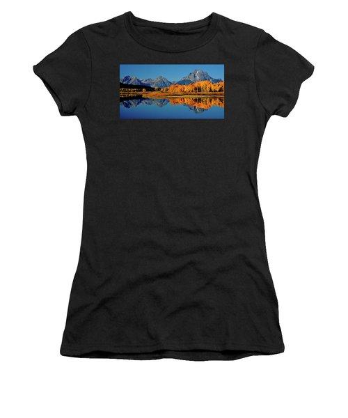 Mt. Moran Reflection Women's T-Shirt (Athletic Fit)