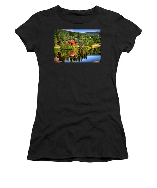 Mt. Snow In Summer Women's T-Shirt (Junior Cut) by Mitchell R Grosky