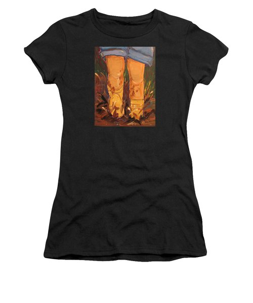 Mud Puddle Fun Women's T-Shirt (Athletic Fit)