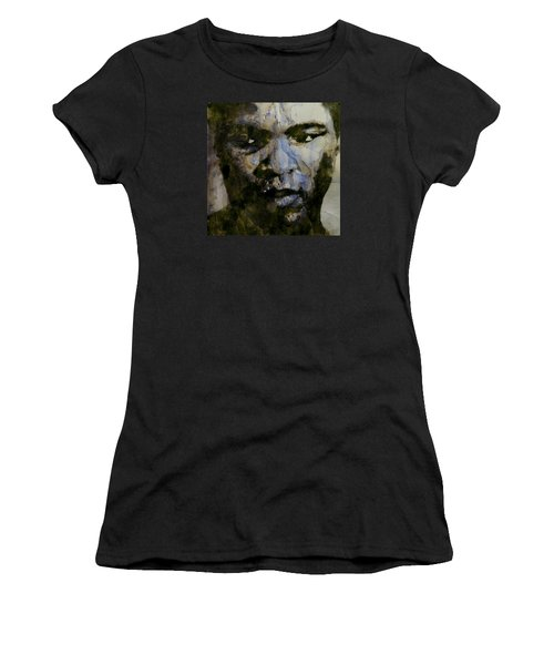 Muhammad Ali  A Change Is Gonna Come Women's T-Shirt (Junior Cut) by Paul Lovering
