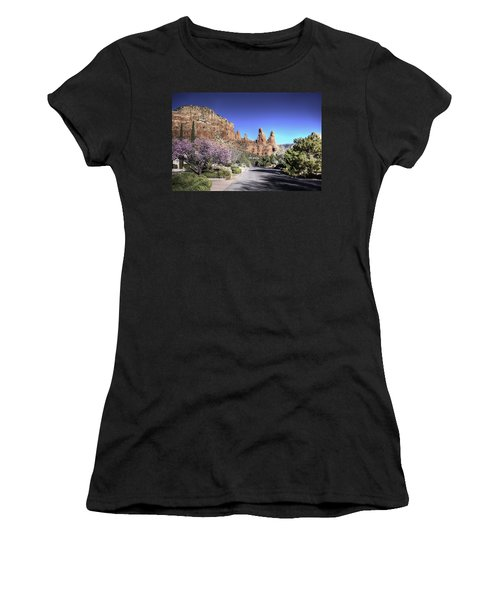 Mushroom Rock Women's T-Shirt (Athletic Fit)
