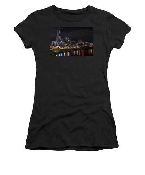 Music And Lights Women's T-Shirt (Athletic Fit)