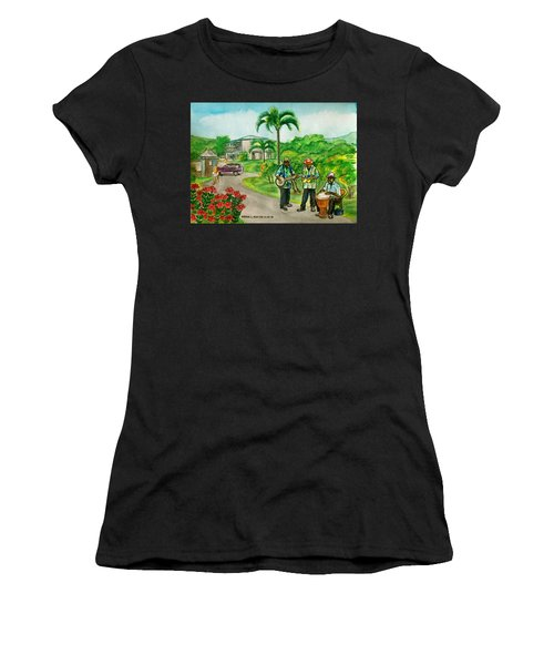 Musicians On Island Of Grenada Women's T-Shirt