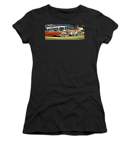 Women's T-Shirt (Junior Cut) featuring the digital art My Cars by Cathy Anderson