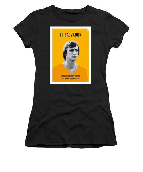 My Cruijff Soccer Legend Poster Women's T-Shirt (Athletic Fit)