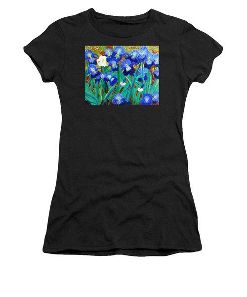 My Iris - Inspired  By Vangogh Women's T-Shirt (Athletic Fit)