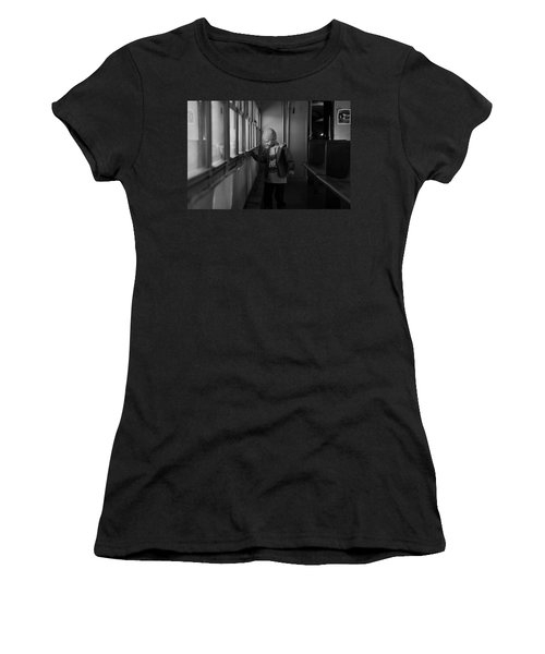 Women's T-Shirt (Junior Cut) featuring the photograph My Shadow by Jeremy Rhoades
