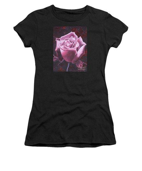 Mystic Rose Women's T-Shirt (Junior Cut) by Vivien Rhyan