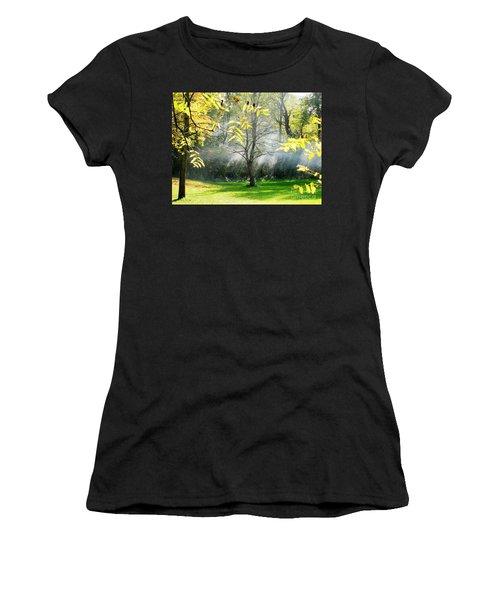 Women's T-Shirt (Junior Cut) featuring the photograph Mystical Parkland by Nina Silver
