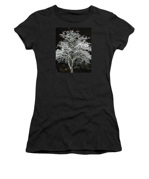 Mystical Winter Beauty Women's T-Shirt (Junior Cut) by Emmy Marie Vickers