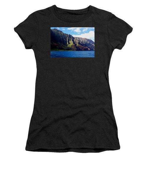Na Pali Coast On Kauai Women's T-Shirt (Athletic Fit)