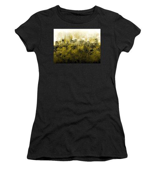 Nashville Skyline Watercolor 4 Women's T-Shirt (Athletic Fit)