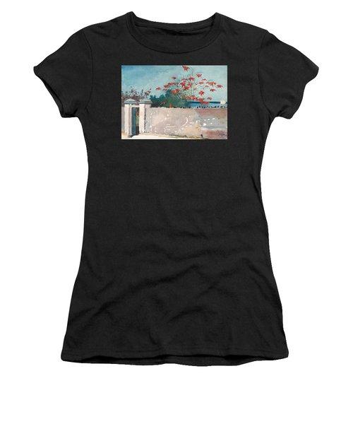 Women's T-Shirt featuring the painting Nassau Bahamas by Winslow Homer