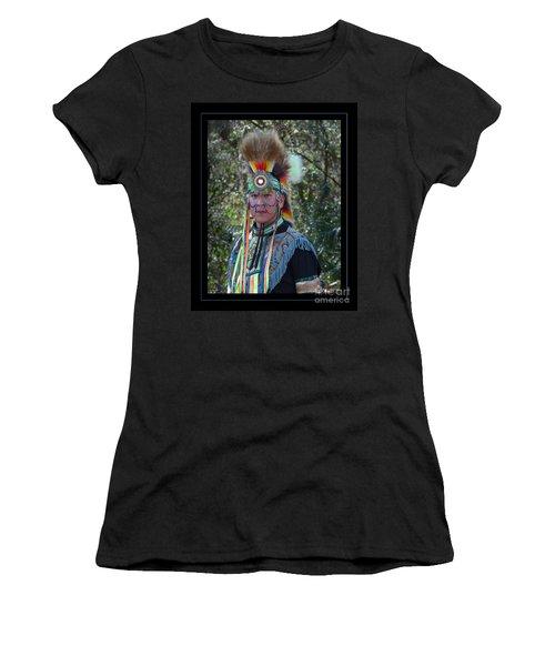 Native American Portrait Women's T-Shirt (Athletic Fit)