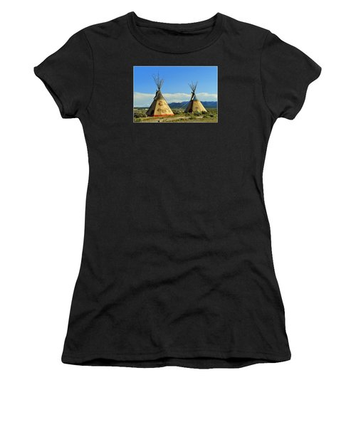 Native American Teepees  Women's T-Shirt (Athletic Fit)