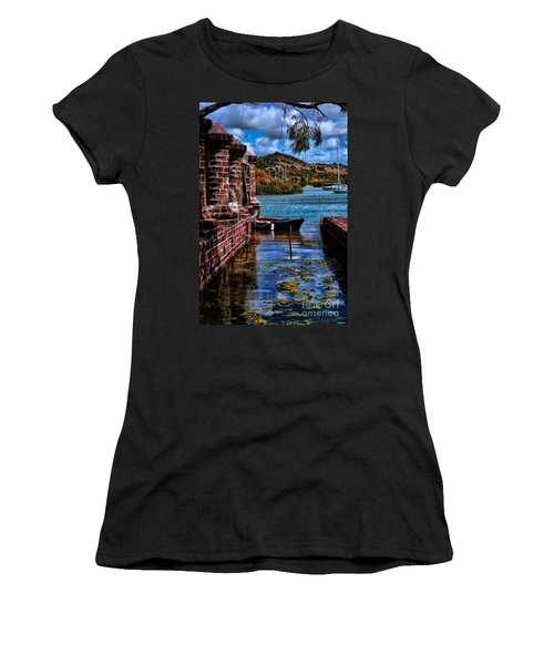 Nelson's Dockyard Antigua Women's T-Shirt (Athletic Fit)