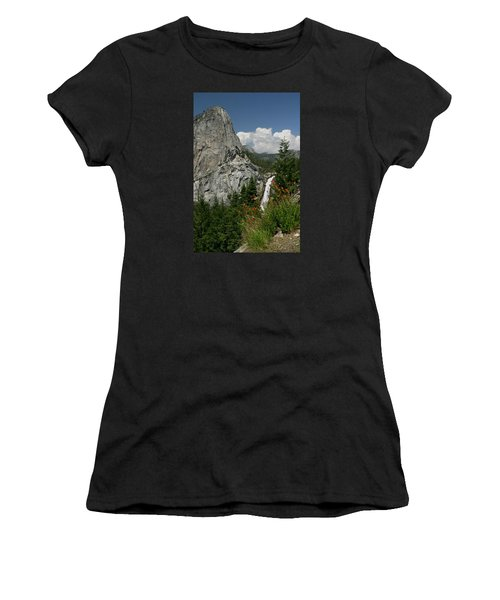 Nevada Falls Yosemite National Park Women's T-Shirt (Athletic Fit)