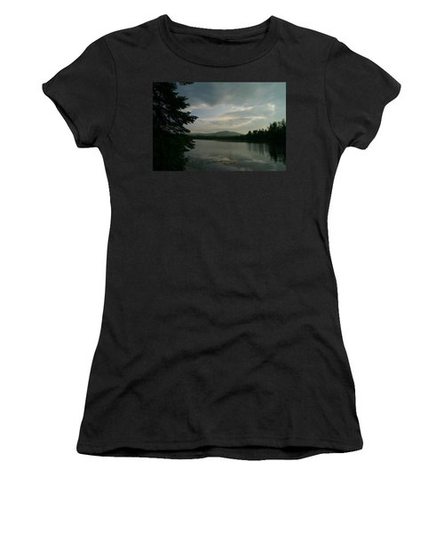 Women's T-Shirt (Junior Cut) featuring the photograph New Morning On Lake Umbagog  by Neal Eslinger