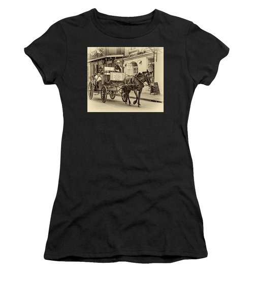 New Orleans - Carriage Ride Sepia Women's T-Shirt