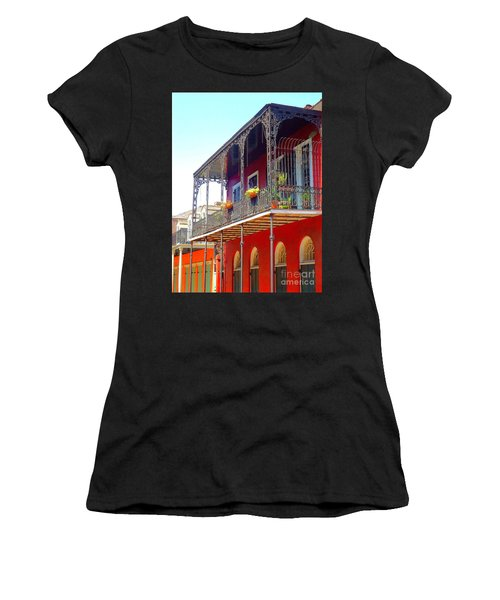 New Orleans French Quarter Architecture 2 Women's T-Shirt (Junior Cut) by Saundra Myles