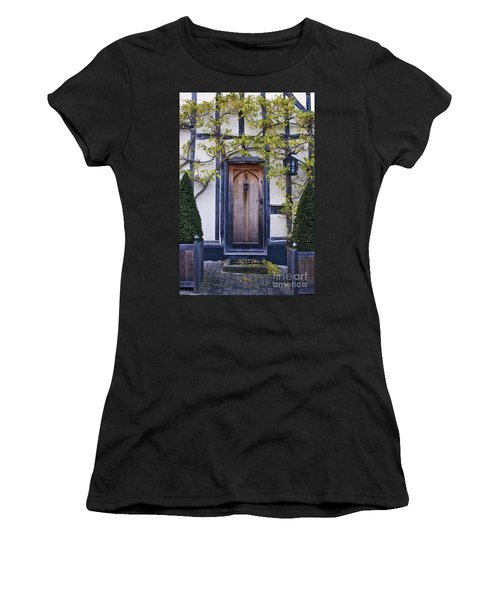 New Photographic Art Print For Sale Doorway 2 In Medieval Lavenham Women's T-Shirt (Athletic Fit)