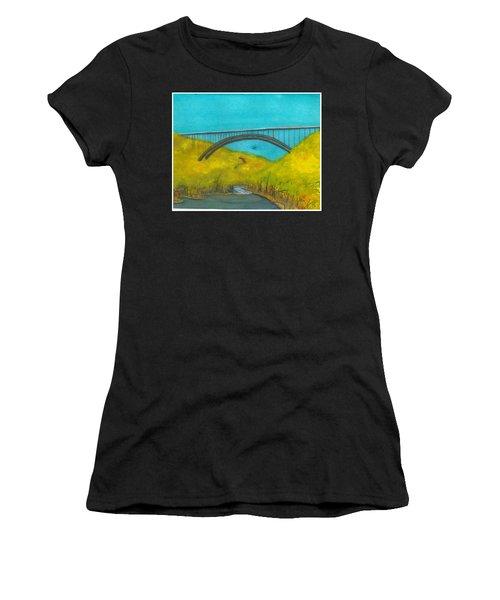 New River Gorge Bridge On Bridge Day Women's T-Shirt (Athletic Fit)