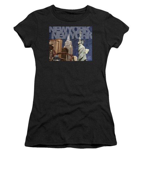 New York New York Las Vegas Women's T-Shirt (Athletic Fit)