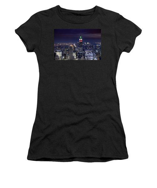 New York Skyline Night Color Women's T-Shirt