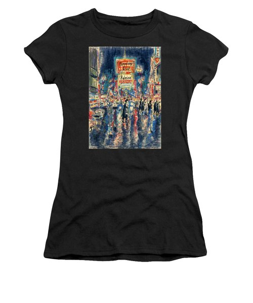New York Times Square 79 - Watercolor Art Painting Women's T-Shirt