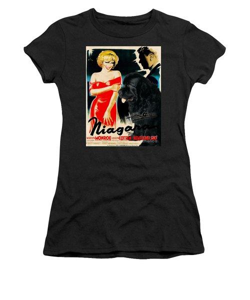 Newfoundland Art Canvas Print - Niagara Movie Poster Women's T-Shirt