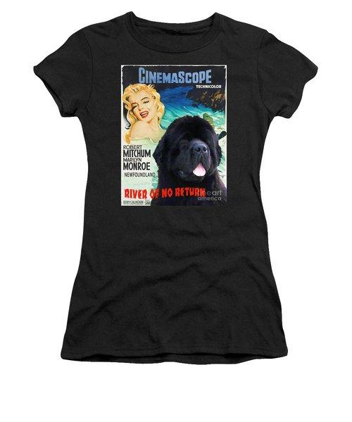 Newfoundland Art Canvas Print - River Of No Return Movie Poster Women's T-Shirt