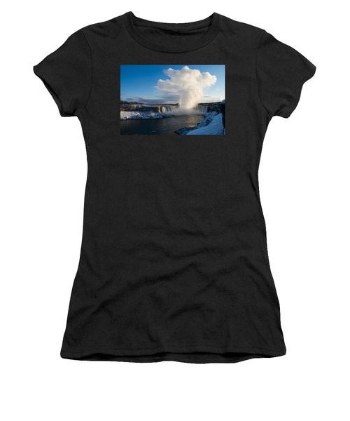 Niagara Falls Makes Its Own Weather Women's T-Shirt (Athletic Fit)
