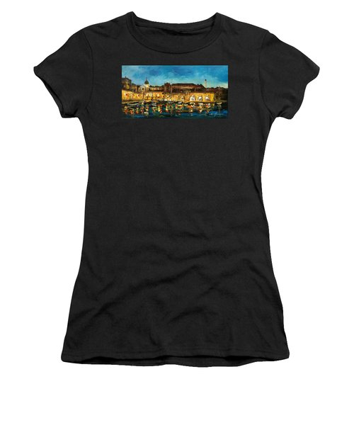 Night In Dubrovnik Harbour Women's T-Shirt