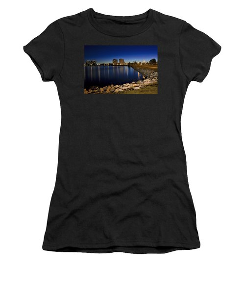 Night Light In Barrie Women's T-Shirt (Athletic Fit)