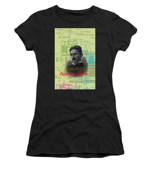 Nikola Tesla #3 Women's T-Shirt (Athletic Fit)