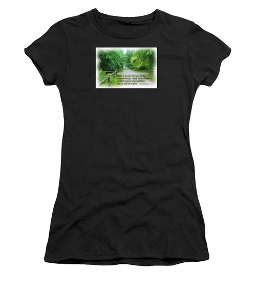 No One Way Women's T-Shirt (Athletic Fit)