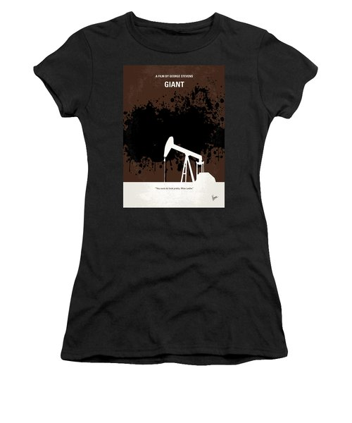 No102 My Giant Minimal Movie Poster Women's T-Shirt (Junior Cut) by Chungkong Art